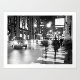 Night Blur Art Print