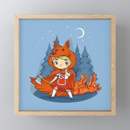 Red Hood Wolf Framed Mini Art Print