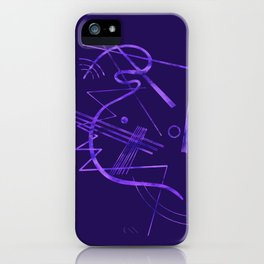Kandinsky - Purple Abstract Art iPhone Case