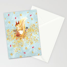 Autumn leaves #35 Stationery Cards