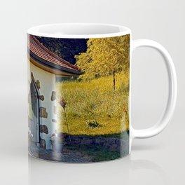 Small chapel up on the mountain Coffee Mug