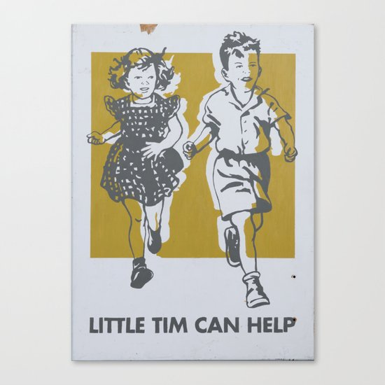 Little Tim can help Canvas Print