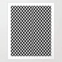 herringbone Art Prints featuring Herringbone. by ∞ ♡ ☮