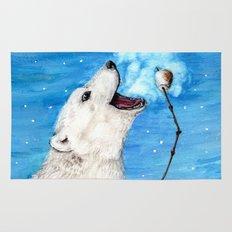 Polar Bear with Toasted Marshmallow Rug