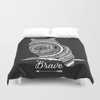 brave Duvet Covers featuring brave by Vickn