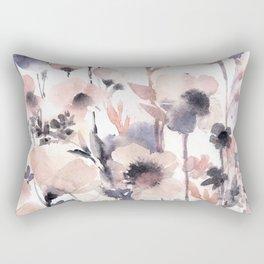 Flowers pink and purple Rectangular Pillow