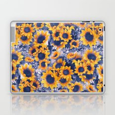Sunflowers Blue Laptop & iPad Skin