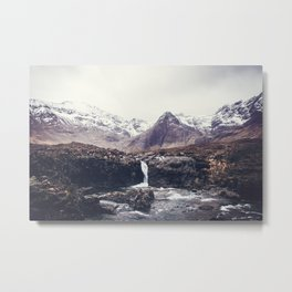 Stormy Fairy Pools in Rugged Scotland Metal Print