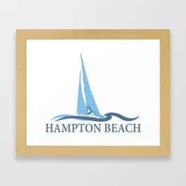 Hampton Beach NH. Framed Art Print