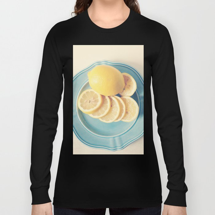 Lemons on Blue Long Sleeve T-shirt