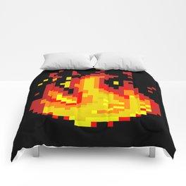 Pixel fire Comforters