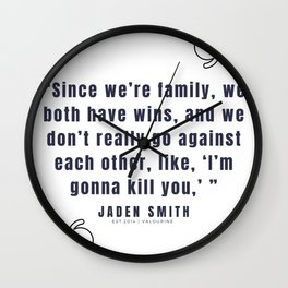 17  |  Jaden Smith Quotes | 190904 Wall Clock