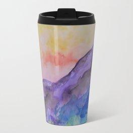 purple mountainside Travel Mug