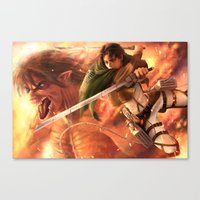 levi Canvas Prints featuring Captain Levi by Nikittysan