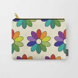 Flower pattern based on James Ward's Chromatic Circle (enhanced) Carry-All Pouch