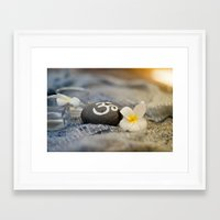 om Framed Art Prints featuring om by tjasa