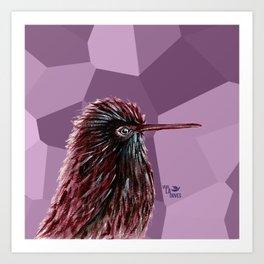 Kiwi Grape Bird Art Print