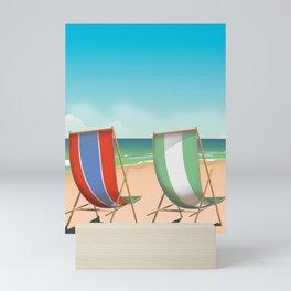 Summer Deck chairs Mini Art Print