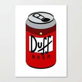 Duff Beer Can Canvas Print