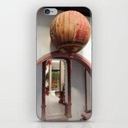 orbs over courtyard corridors iPhone Skin