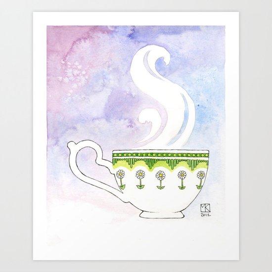 Daisy Cup Art Print