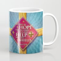 shield Mugs featuring Our Shield by Peter Gross