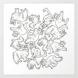 psychic cat clowder Art Print