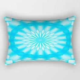 Mozaik Mandala Flower (blue) Rectangular Pillow