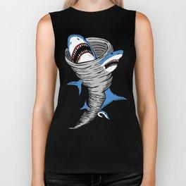Shark Tornado Biker Tank