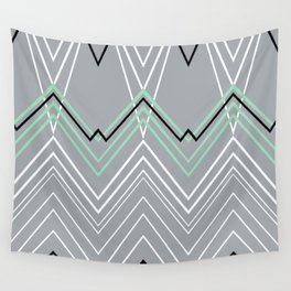Mint Grey Chevy Wall Tapestry