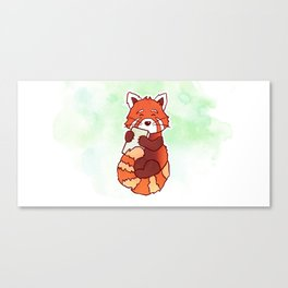 RED PANDA READS Canvas Print