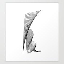 """Linear Collection"" - Minimal Letter K Print Art Print"