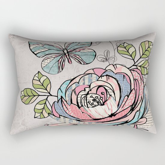 Paper Flowers #2 Rectangular Pillow