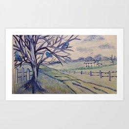 Vintage Blue Art Print