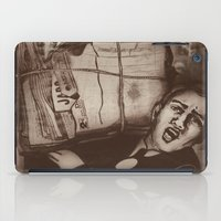 newspaper iPad Cases featuring Newspaper Boy by Marie Pier Cadorette