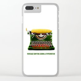 ORGANIC INVENTIONS SERIES: Vintage Smythe-Corn-A Typewriter Clear iPhone Case