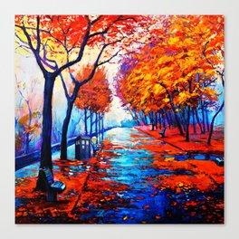Tardis Art Tree Blossom Canvas Print