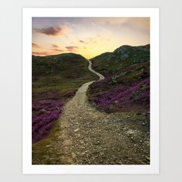 Sunset at Skye Island Art Print