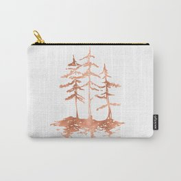 THE THREE SISTERS Trees Rose Gold Carry-All Pouch