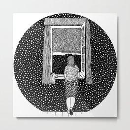 Girl in the window. Dalí Metal Print