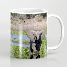 Elephants in the water - Africa wildlife Coffee Mug