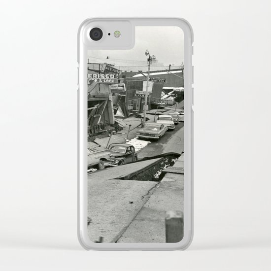 Disaster old photo Clear iPhone Case