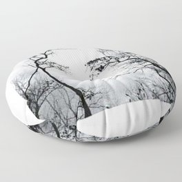 face in the trees Floor Pillow