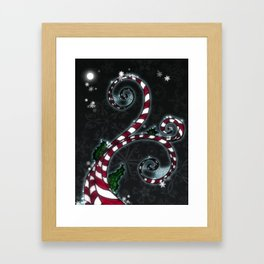 Candy Cane Vine Framed Art Print