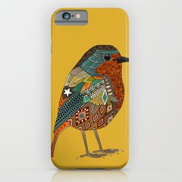 robin gold iPhone Case