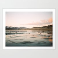 Sunset in Iceland Art Print