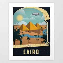 Vintage poster - Cairo Art Print
