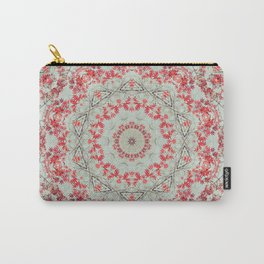 Flight of the Red Maple Tree -- Dreamy Mandala, Medallion, Kaleidoscope in Vintage Tones Carry-All Pouch