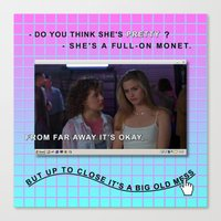 clueless Canvas Prints featuring Clueless x Monet by Lisa-Roxane Lion