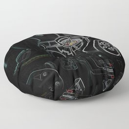 Glitchmask Zone Floor Pillow